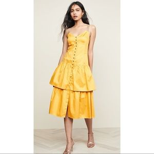 SEE BY CHLOE Tiered Cotton Midi Dress NWT
